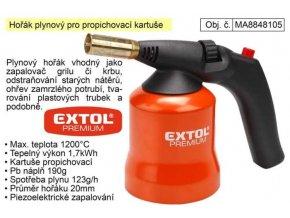 Plynový horák Extol Premium na plynové kartuše prepichovacie
