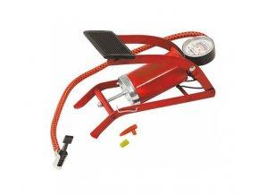 COMPASS Pumpa nožní s manometrem jednopístová červená
