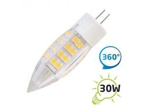 LED žárovka G4 2,5W 51SMD bílá teplá