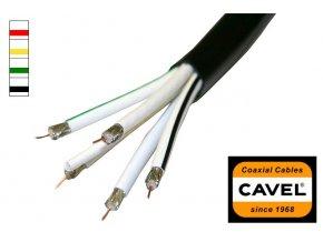 Koaxiální kabel CAVEL 5x DG80M venkovní - metráž