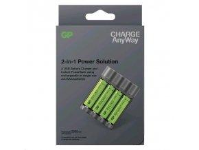 GP Charge AnyWay 2v1 power bank a nabíječka