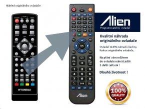 Dálkový ovladač ALIEN HYUNDAI DVB4H331 PVR