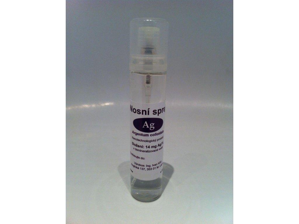 Koloidní stříbro 14 mg Ag/l nosní sprej 50 ml