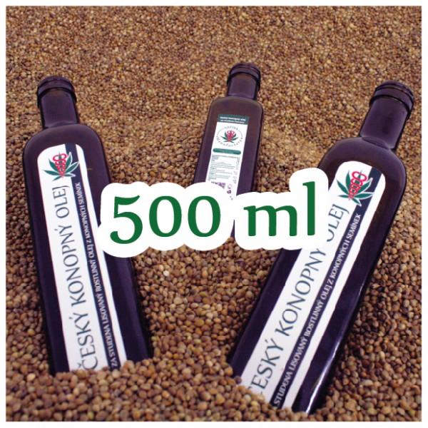 Konopný olej v kvalitě BIO 500 ml - sleva 32%