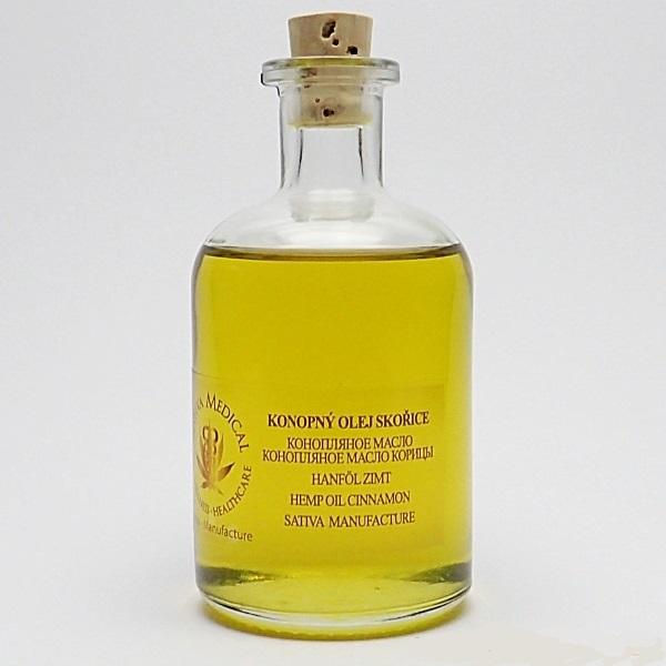 Konopný olej se skořicí 100 ml
