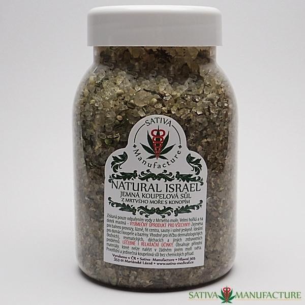 Sůl z Mrtvého moře s konopnou herbou koupelová přírodní