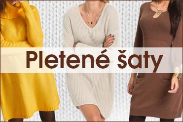 Pletené šaty si zamilujete! Víte, jak je nosit?