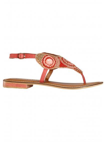 BODYFLIRT kožené sandály (BARVA RŮŽOVÁ, VELIKOST 39)