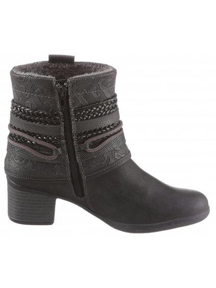 DOCKERS BY GERLI kotníčkové boty na podpatku