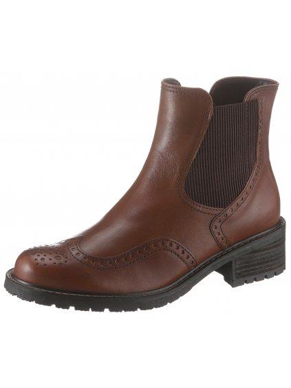 GABOR Chelsea kotníčkové boty (BARVA HNĚDÁ, VELIKOST 38,5)
