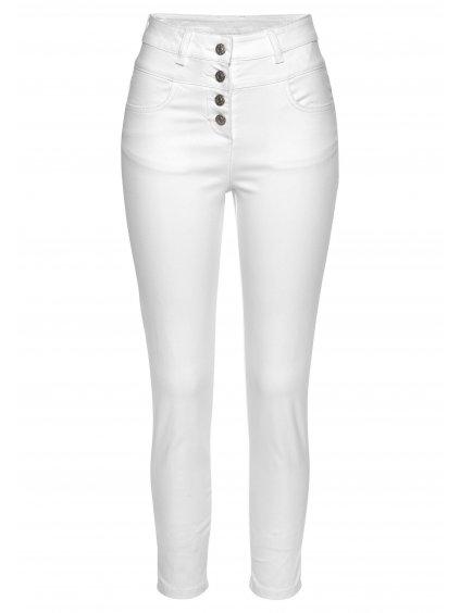 LASCANA vkusné kalhoty (BARVA BÍLÁ, VELIKOST 38, VNITŘNÍ DÉLKA NOHAVICE 72 cm)