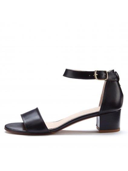 LASCANA kožené sandály (BARVA ČERNÁ, VELIKOST 36)