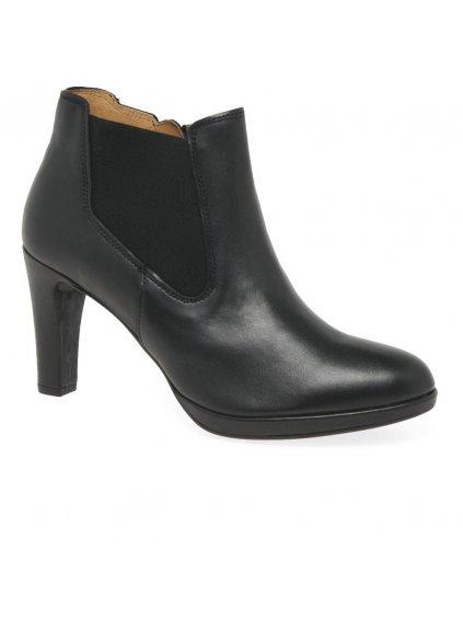 GABOR kožené kotníčkové boty (BARVA ČERNÁ, VELIKOST 42)