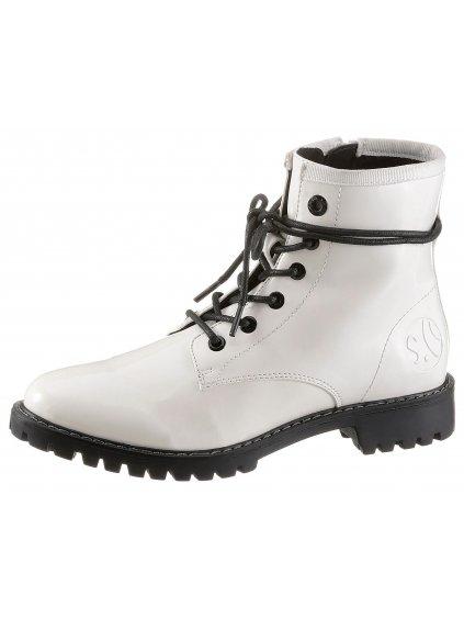 S.OLIVER lakované kotníčkové boty