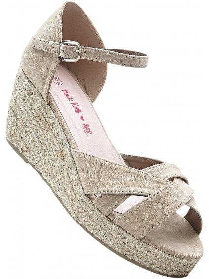 BONPRIX sandály na klínku