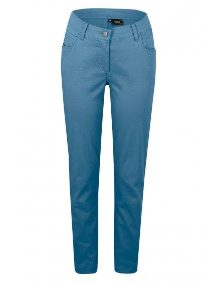 BONPRIX pohodlné kalhoty (BARVA MODRÁ, VELIKOST 44, VNITŘNÍ DÉLKA NOHAVICE 78 cm)