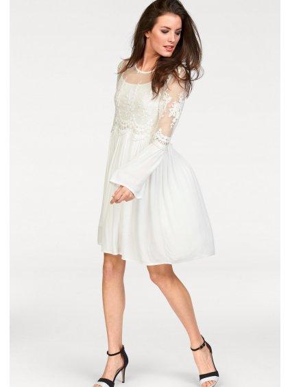 ANISTON CASUAL šaty s podšívkou (BARVA BÍLÁ, VELIKOST 40)