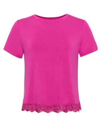 RAINBOW tričko s prostřihem (BARVA RŮŽOVÁ, VELIKOST 32/34)