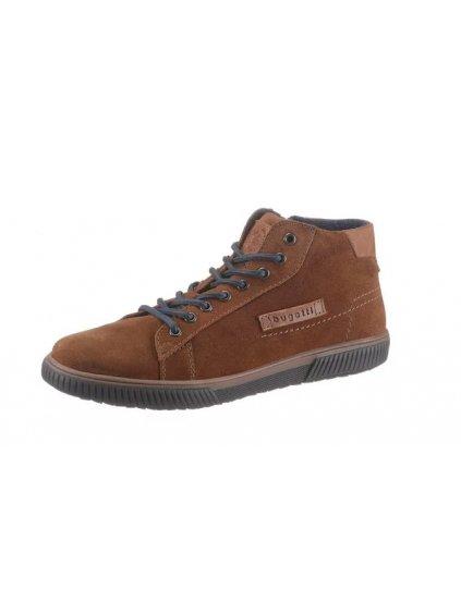 BUGATTI zimní kožené boty