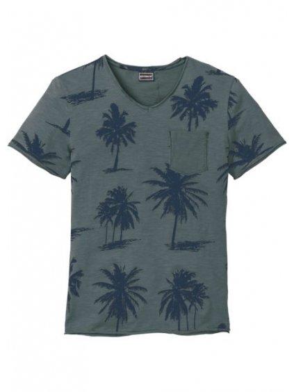 RAINBOW tričko s palmami