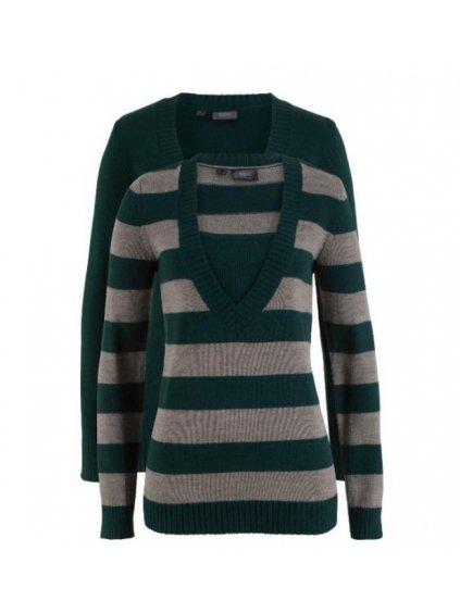 BONPRIX set dvou svetrů s dlouhým rukávem