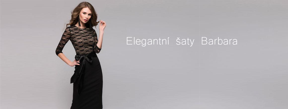 Elegantní luxusní šaty Barbara s krajkou
