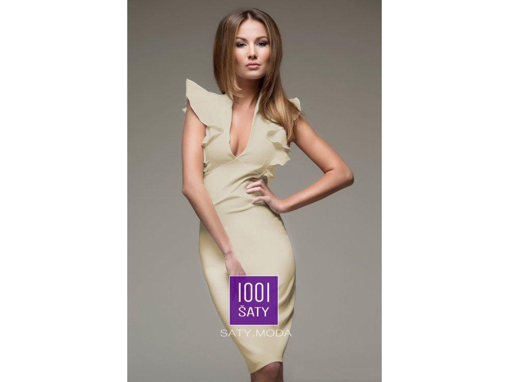 594a037ef24 Společenské šaty Tessa Beige - 1001ŠATY - SATY.MODA