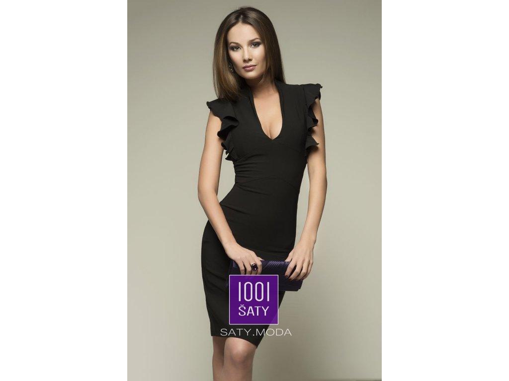 79351b65a8e Společenské šaty Tessa Black - 1001ŠATY - SATY.MODA