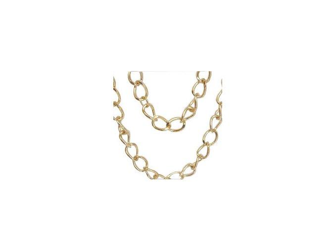 Jednoduchý masivní řetěz ve zlaté barvě