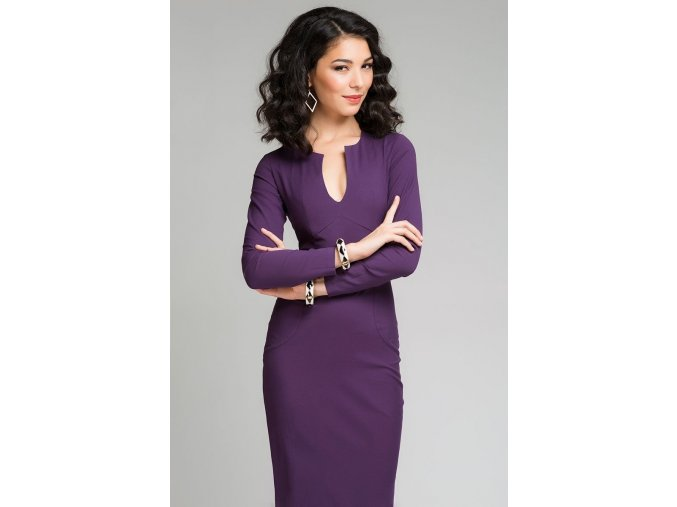 šaty Nicole Purple