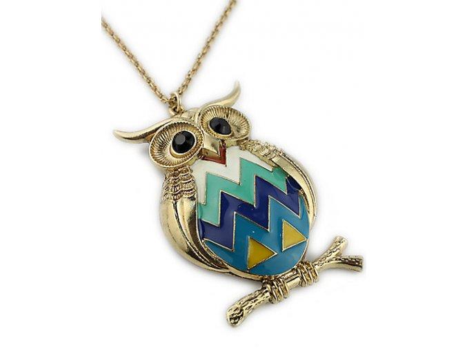 Stýlový náhrdelník se sovou