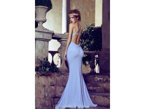 modré plesové šaty