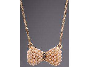 Jednoduchý náhrdelník s malou mašličkou