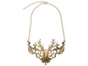 Stýlový náhrdelník s jelenem