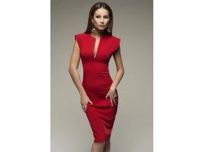 červené šaty bez rukávu 1