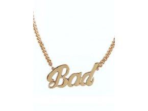 Zlatý náhrdelník BAD