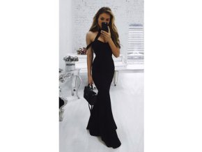 černé plesové šaty whitney black
