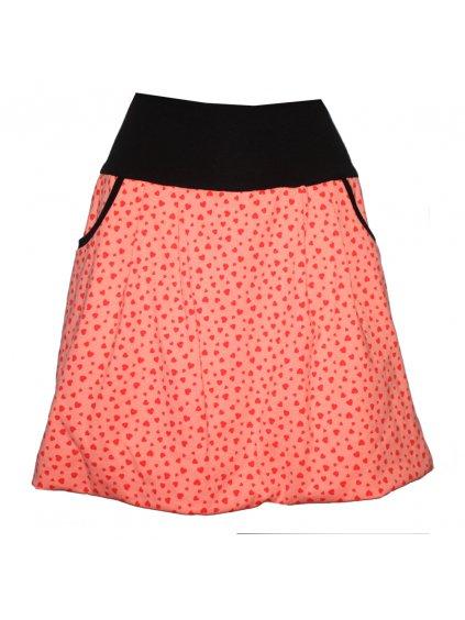 Bavlněná letní sukně, oranžová