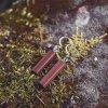Visací dřevěné náušnice, ručně vyráběné, tmavě hnědé