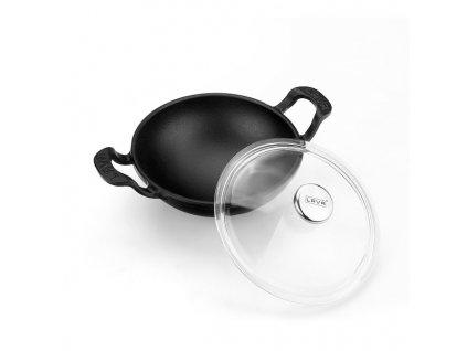 Litinový wok 16 cm - černý matný