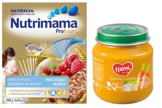 Nutrimama cereální tyčinky a nový příkrm Hami Zelenina s krůtou