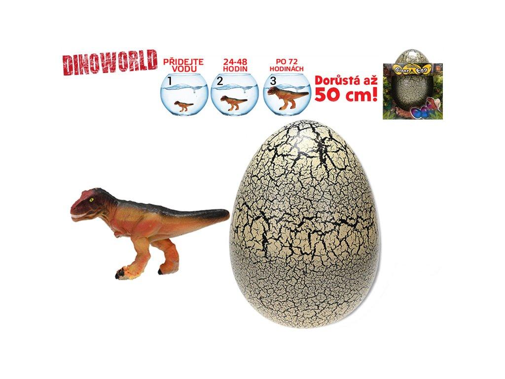 Dinosaurus líhnoucí a rostoucí v krémovém vajíčku MEGA 20cm