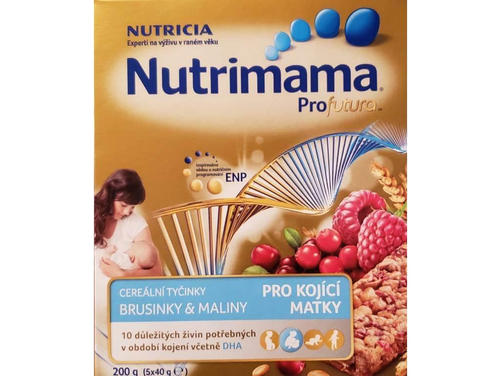 nutrimama profutura cerealni tycinky s brusinkami a malinami 200 g 8590340150104