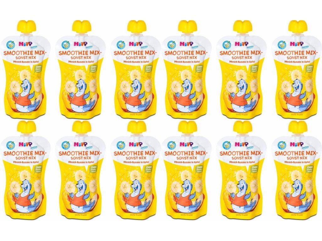 hipp bio smoothie jablko banan broskev 12x120 ml 4062300325081