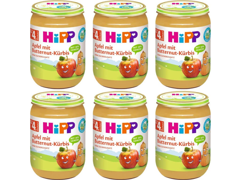 hipp bio jablko s maslovou dyni 6x190 g 4062300352223