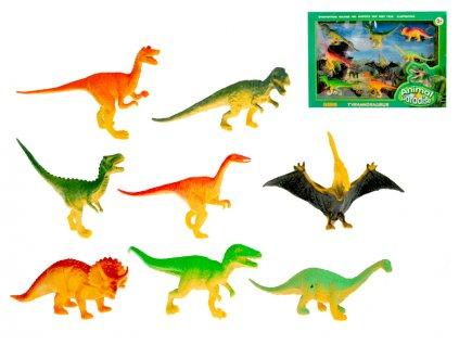 Dinosauři 9-13 cm v krabičce 8 ks