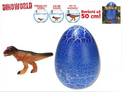 Dinosaurus líhnoucí a rostoucí v modrém vajíčku MEGA 20cm