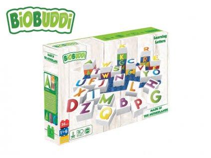 BiOBUDDi stavebnice Learning Letters Young Ones písmena 35ks + 1ks základní deska 18m+ v krabičce