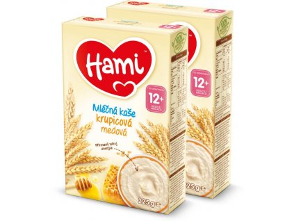 hami mlecna kase xxl krupicova medova 2x 225 g 5900852047909 xxl