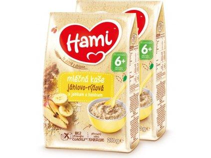hami mlecna kase xxl jahlovo ryzova s jablkem a bananem 420 g 2x 210 g 5900852044458 xxl
